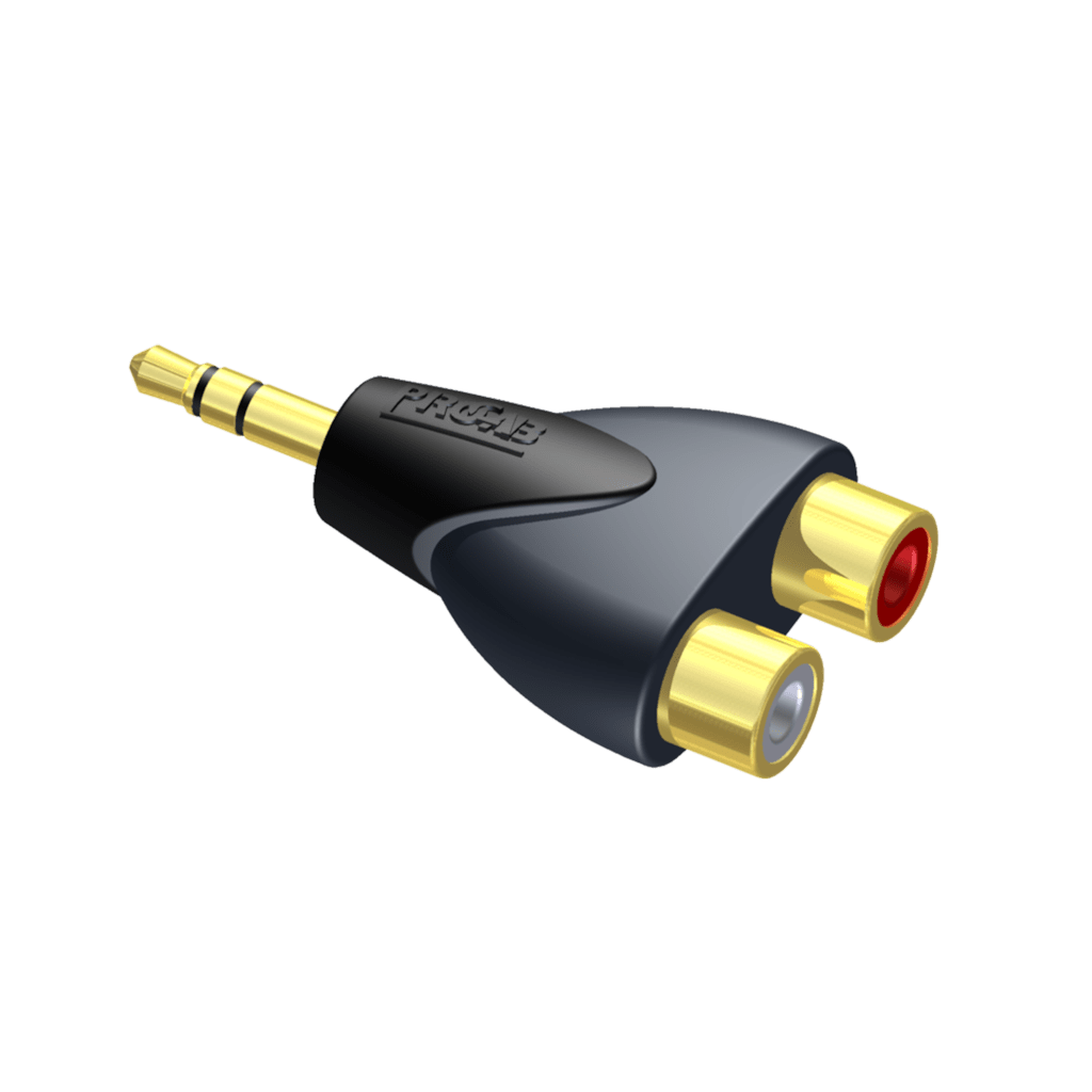 CLP211 - Adapter - 2 x RCA/Cinch female - 3.5 mm Jack male stereo
