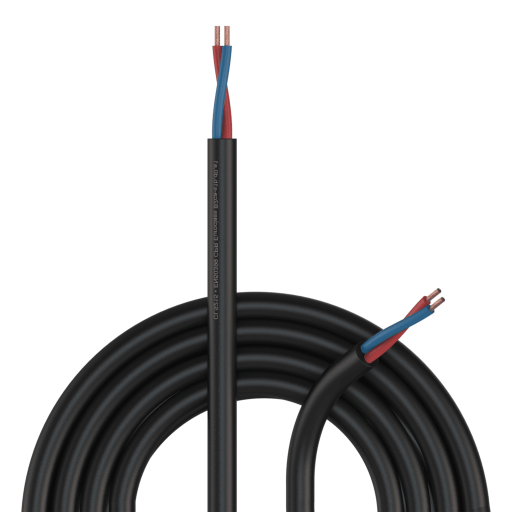 CLS215-B2CA - Loudspeaker cable - 2 x 1.5 mm² - 16 AWG -  EN50399 CPR Euroclass B2ca-s1b,d0,a1