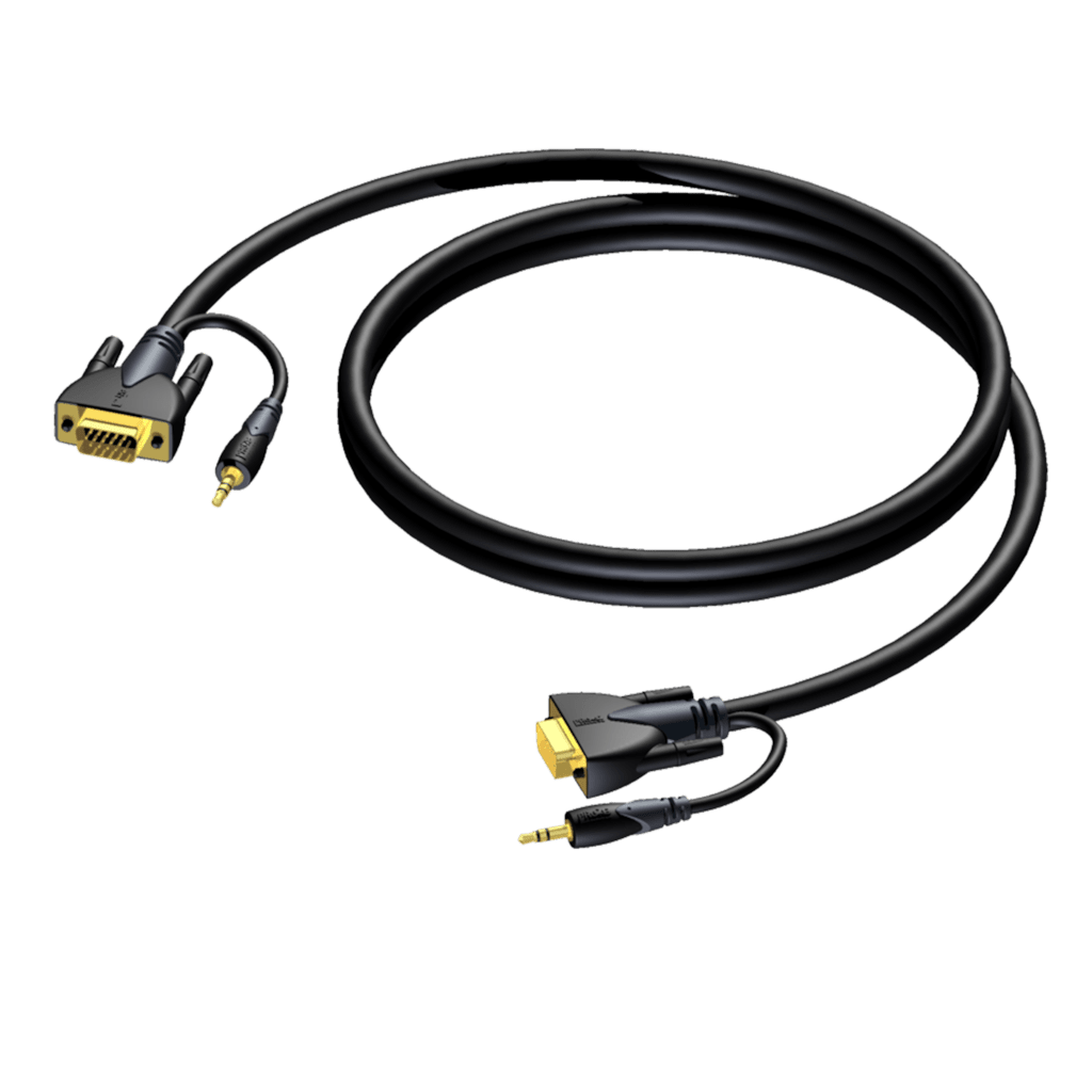 CLV115 - SVGA male & 3.5 mm Jack male stereo - SVGA male & 3.5 mm Jack male stereo