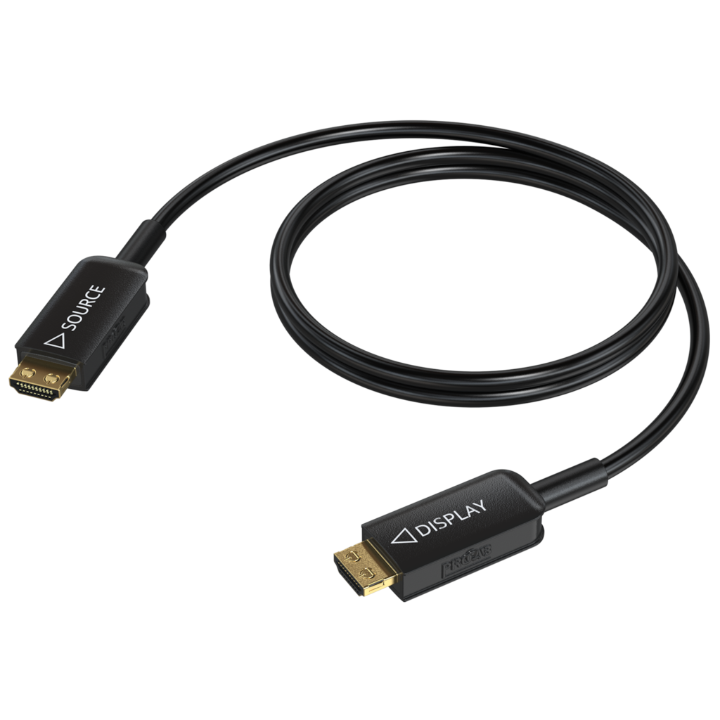 HDMI 2.1 Active optical cable - HDMI A male - HDMI A male - HighFlexT