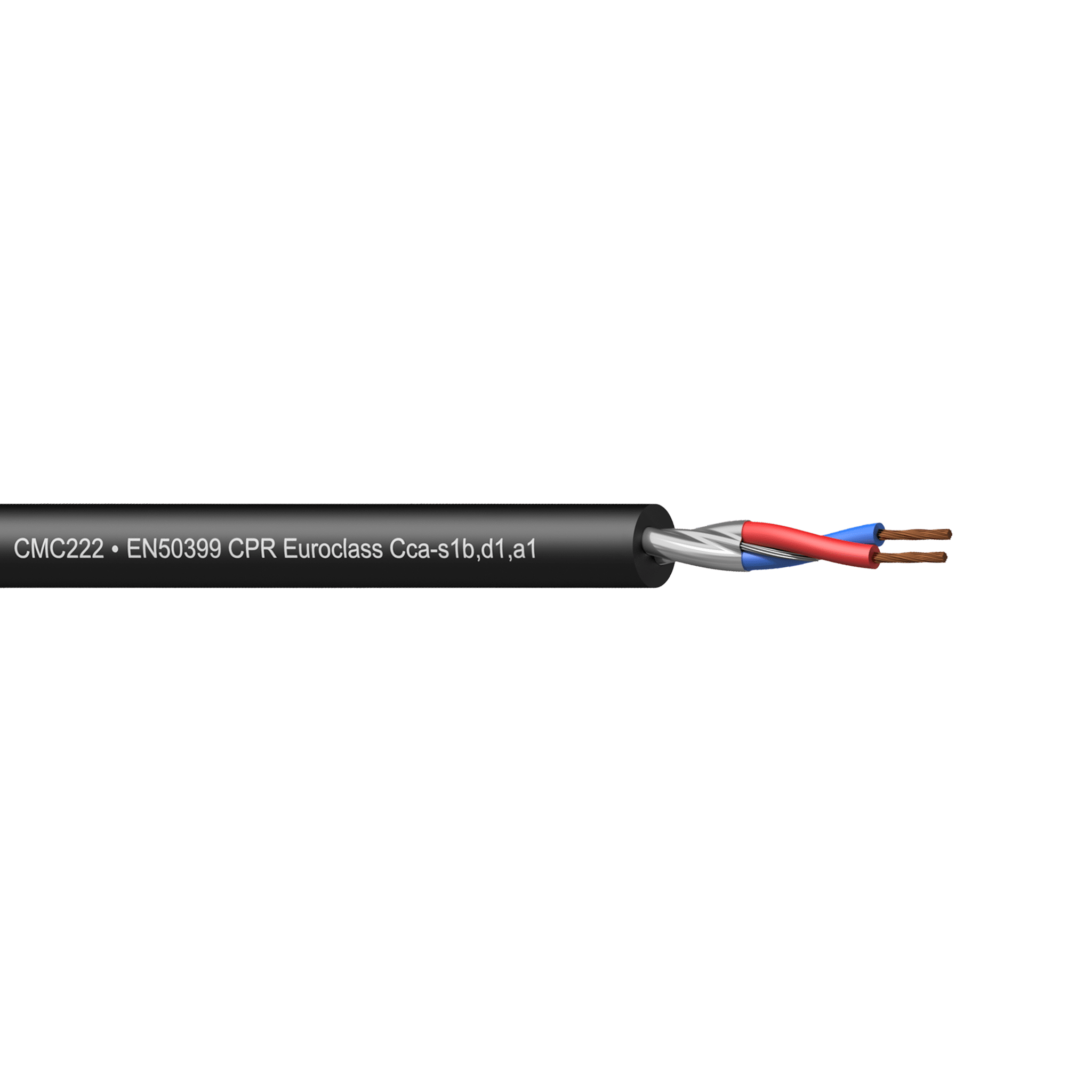 CMC222-CCA - Balanced microphone cable - flex 2 x 0.34 mm ² - 22 AWG - EN50399 CPR Euroclass Cca-s1b,d1,a1