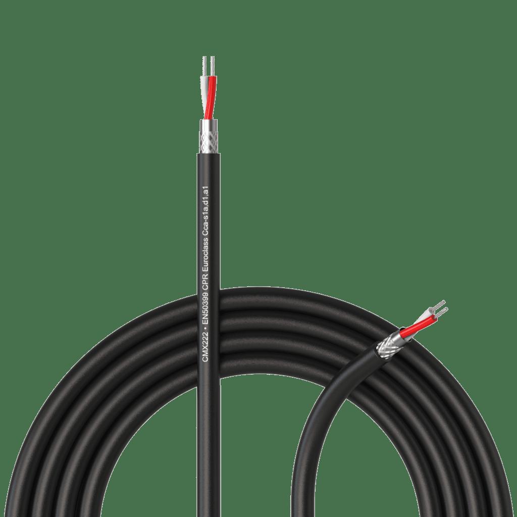 CMX222-CCA - DMX-AES cable – 2 x 0.34 mm² - 22 AWG - EN50399 CPR Euroclass Cca-s1a,d1,a1