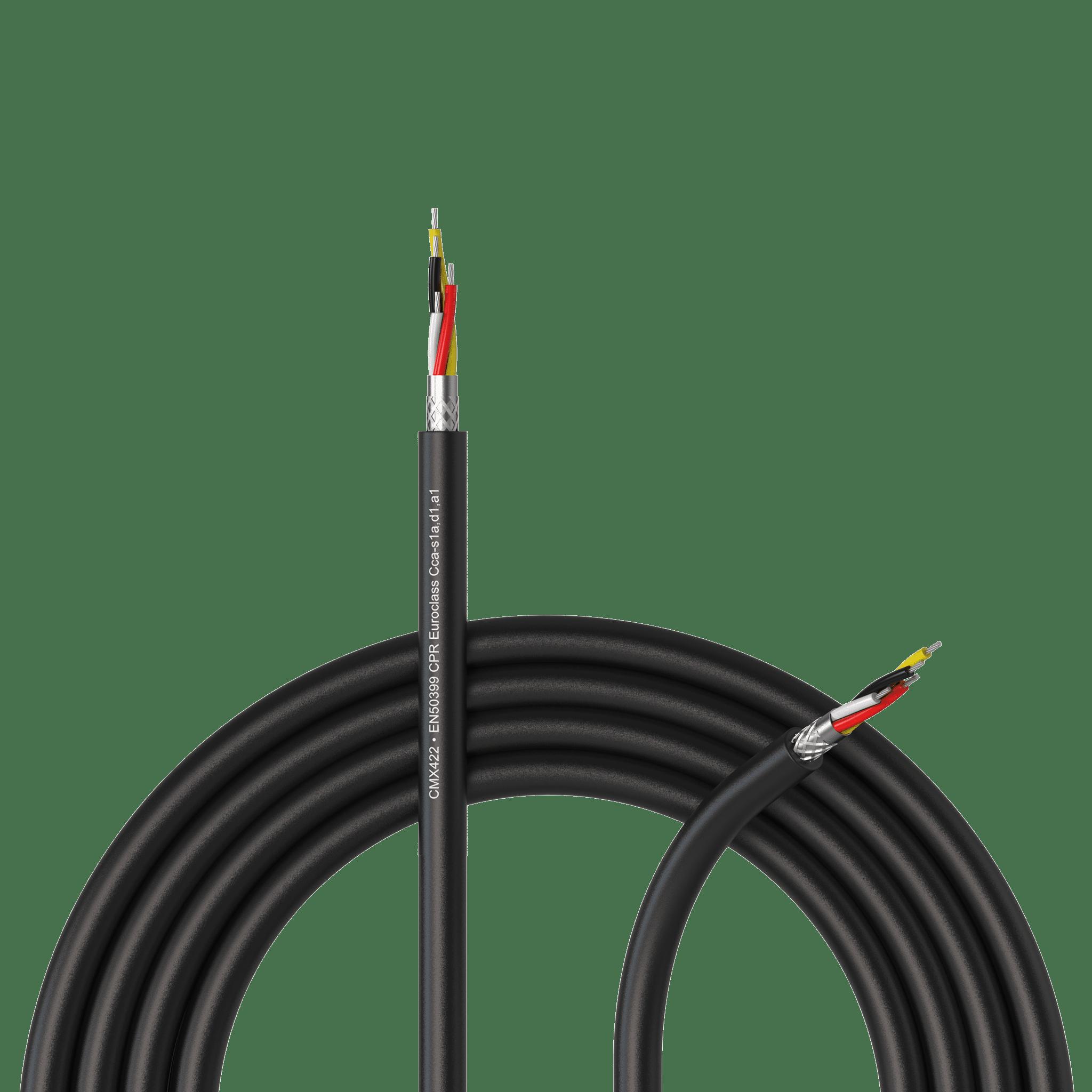 CMX422-CCA - DMX-512 cable - 4 x 0.34 mm² - 22 AWG -  EN50399 CPR Euroclass Cca-s1a,d1,a1
