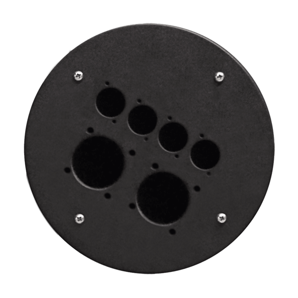CRP342 - 2 x schuko size + 4 x d-size hole center plate