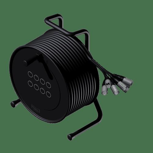 CRX08.0 - Cable reel - 8 x XLR female - 8 x XLR male