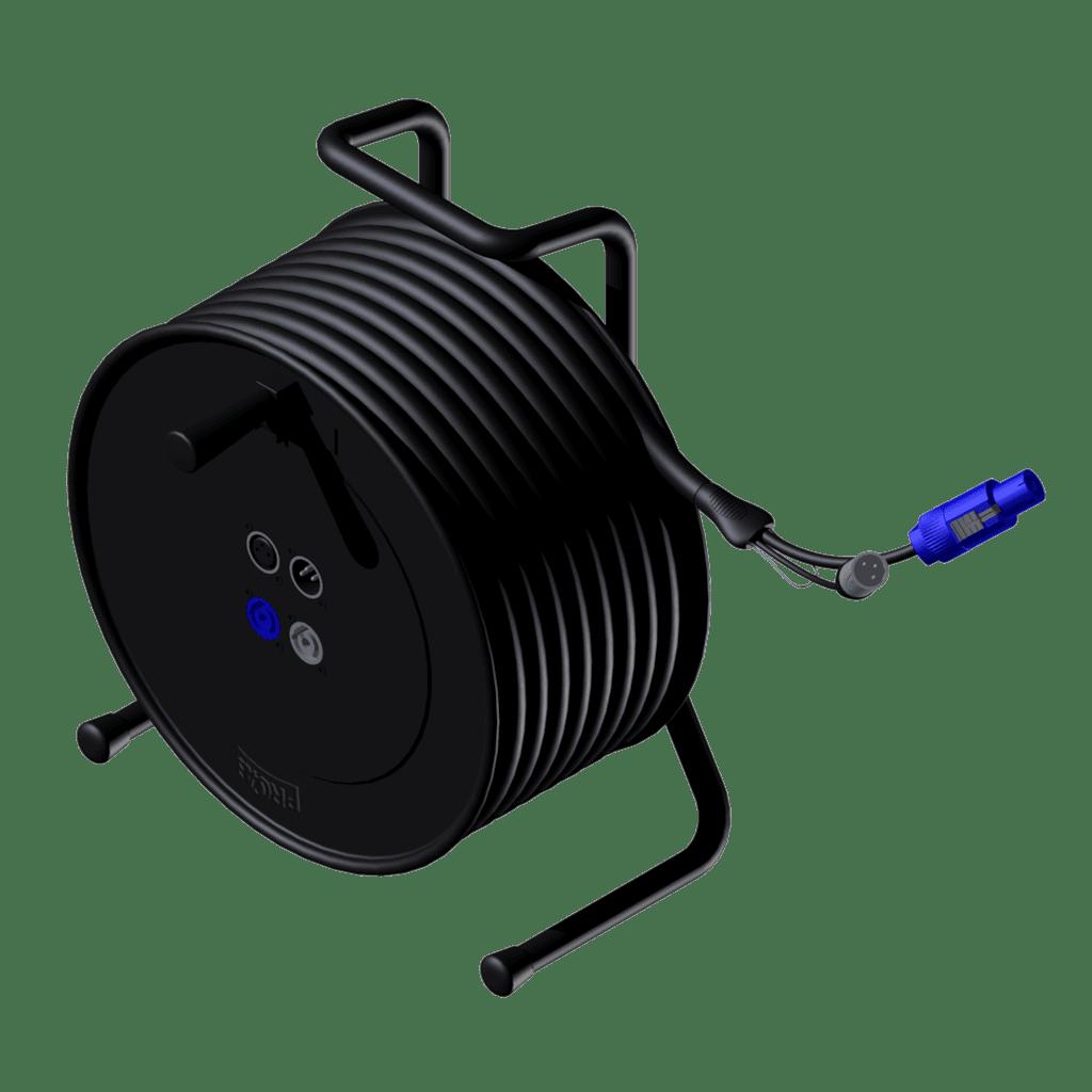 CRX603 - Cable reel - XLR & powerCON - XLR male & powerCON power-in