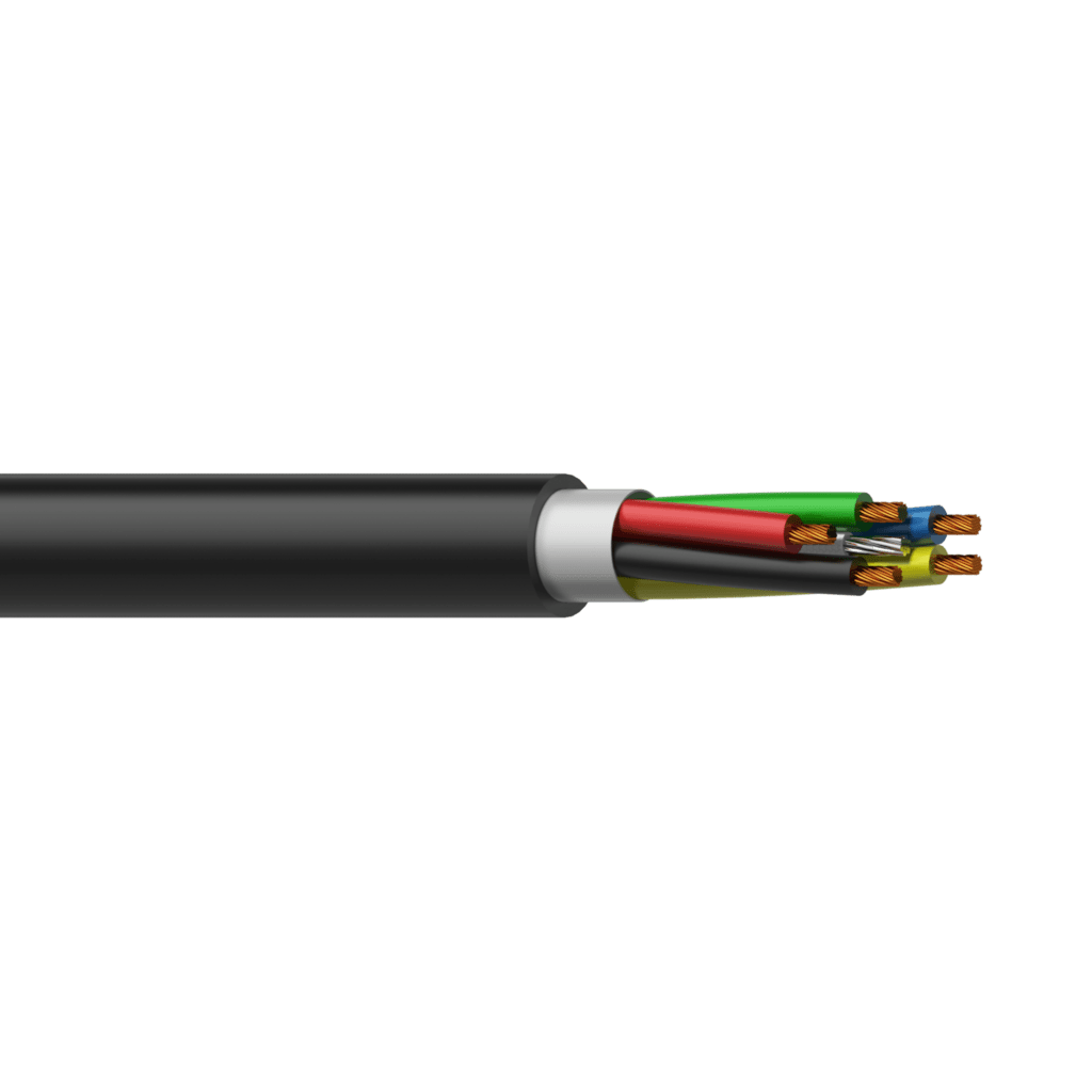 LSS504 - Loudspeaker cable - 5 x 0,4 mm² - 21 AWG - with steel tension cable