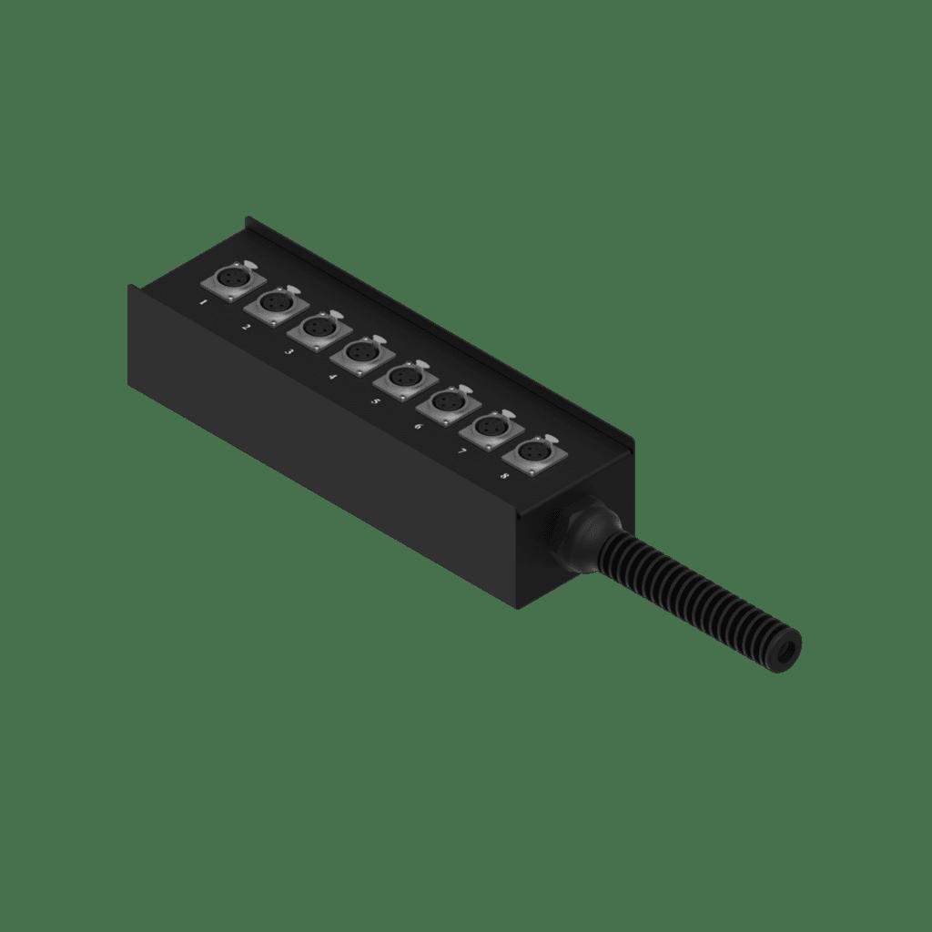 MSB108.0 - Multi stage block - 8 x XLR female