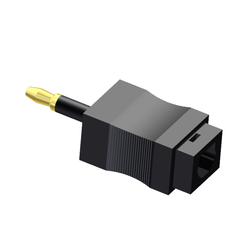 OCT125 - Fiber Optic adapter - Toslink - Miniplug