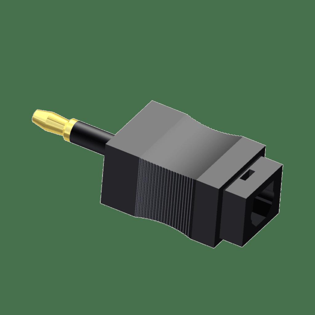 OCT125 - Fiber optic adapter - toslink - miniplug