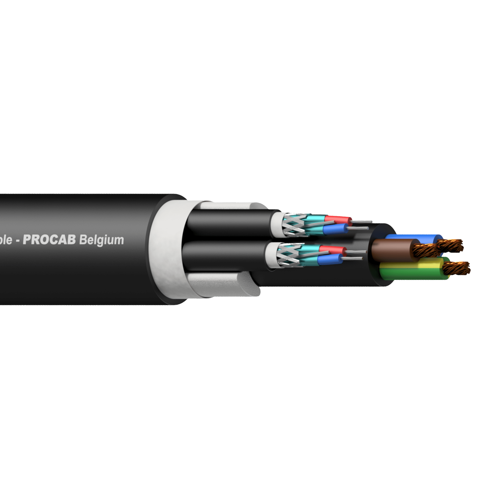PAC252 - 2 x Balanced signal / DMX-AES & 3G2.5 Power cable