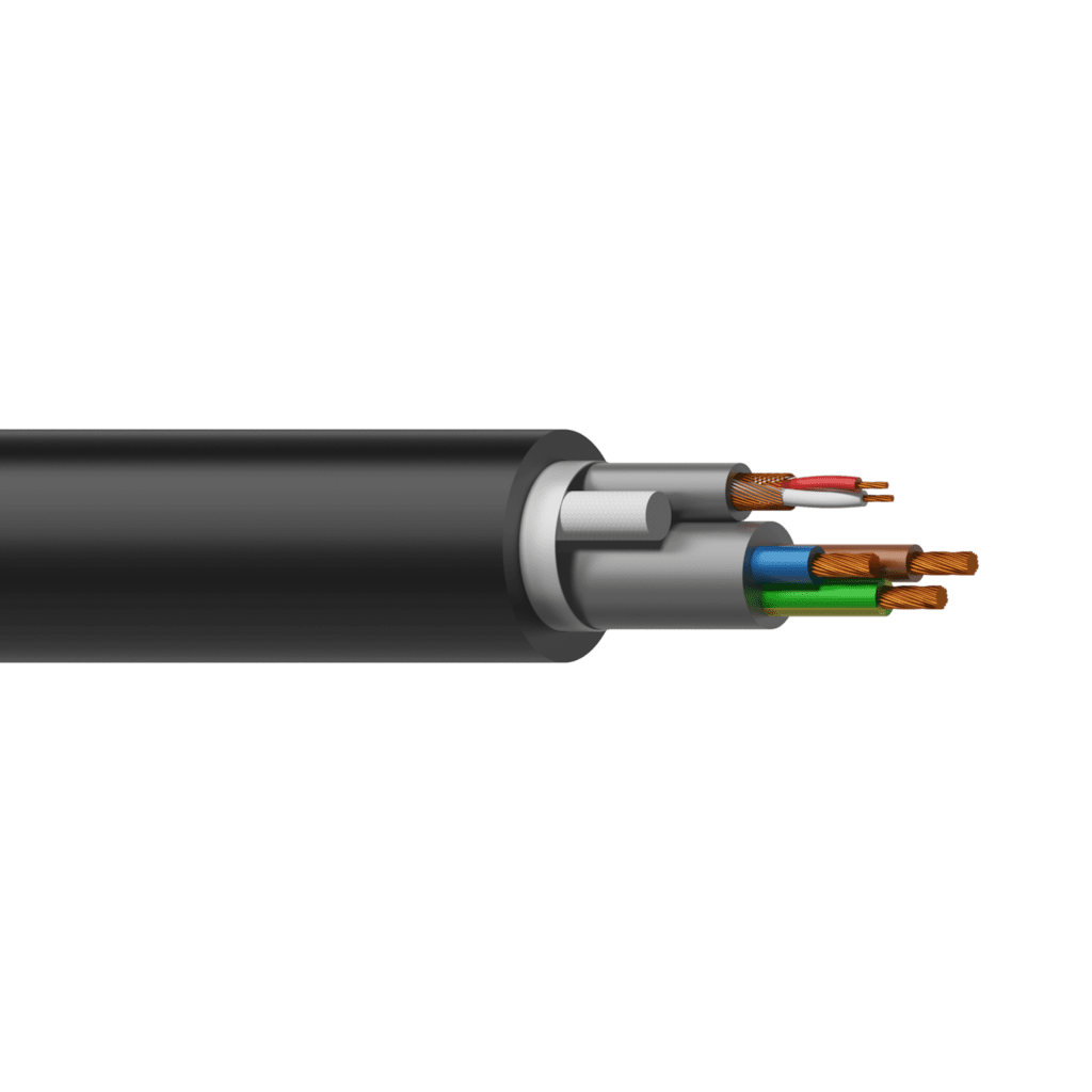 PAC50 - Power & balanced signal cable - 3 x 1.0 mm² & 2 x 0,125 mm ² - 17 AWG & 26 AWG