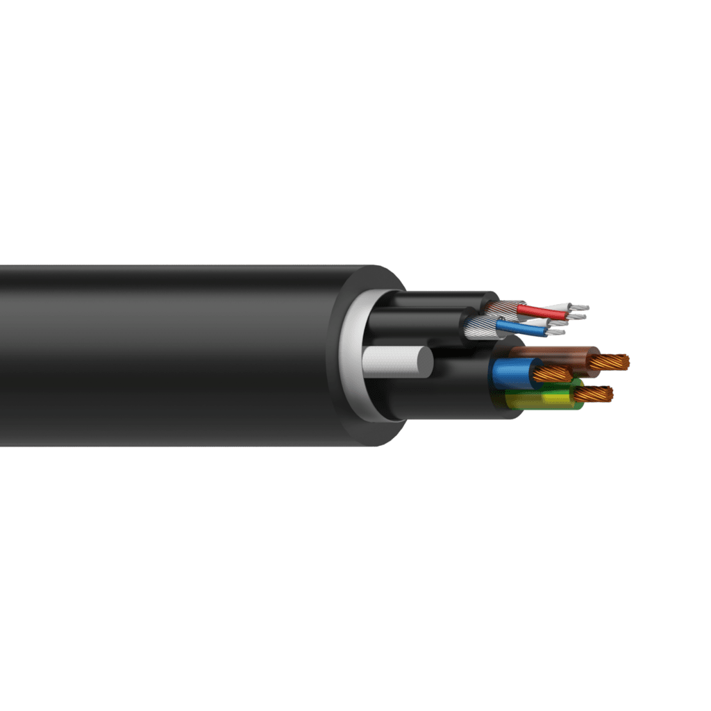 PAC55 - Power & 2 x balanced signal cable - 3 x 1.5 mm² & 2 pairs x 0,16 mm ² - 16 AWG & 25 AWG