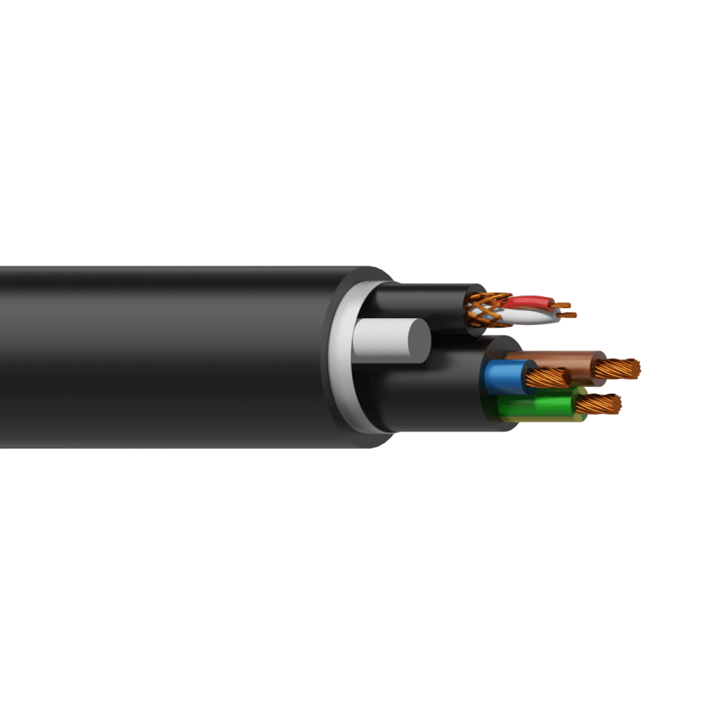 PAC60 - Power & DMX-AES cable -  3 x 2.5 mm² & 2 x 0,22 mm ² - 13 AWG & 24 AWG