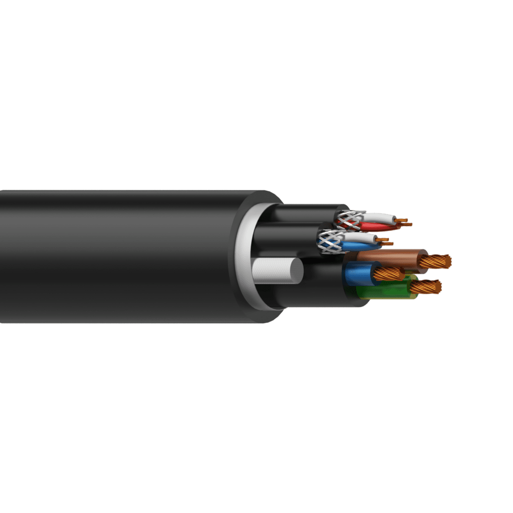 PAC62 - Power & 2 x DMX-AES cable -  3 x 2.5 mm² & 2 pairs x 0,11 mm ² - 13 AWG & 26 AWG