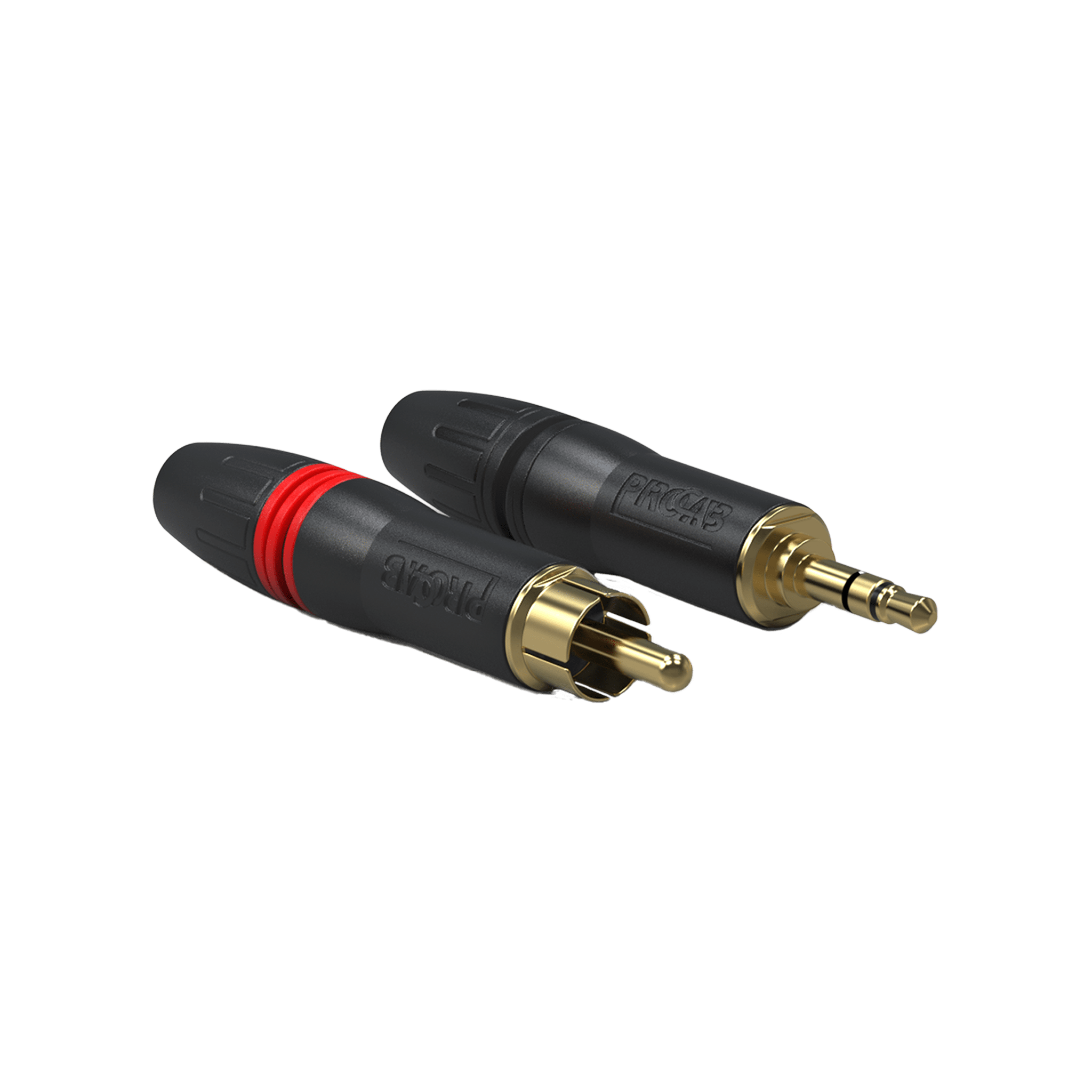 PCR2M - Cable connector - professional RCA/Cinch male - gold contacts - pair