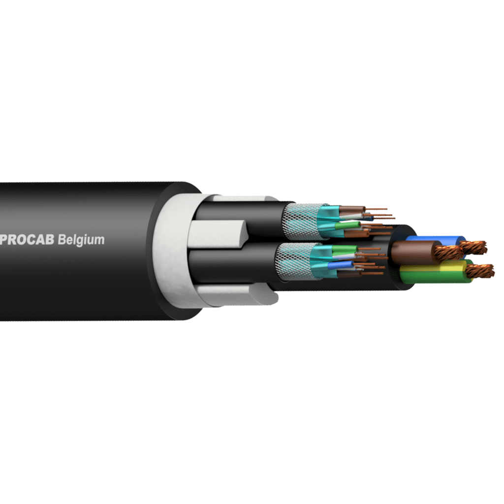 PNC2527 - 2 x CAT7 S/FTP & 3G2.5 Power cable