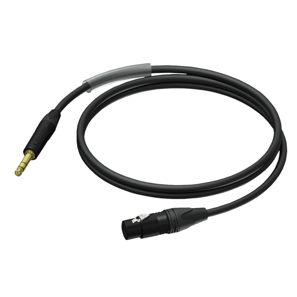 PRA723 - XLR female - Jack male stereo - UltraFlex™