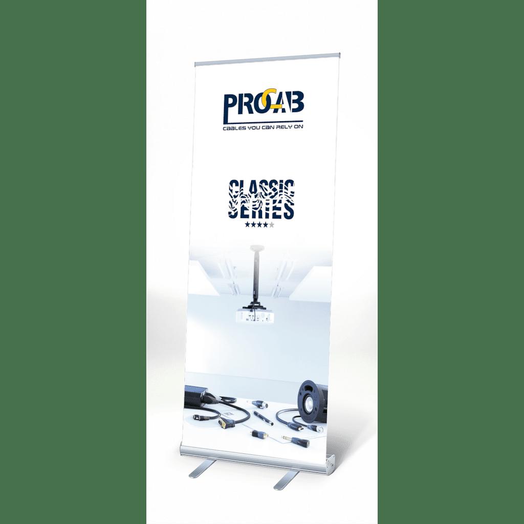 PROMO6022 - PROCAB Classic roll-up display 200 x 85 cm- v 1.0