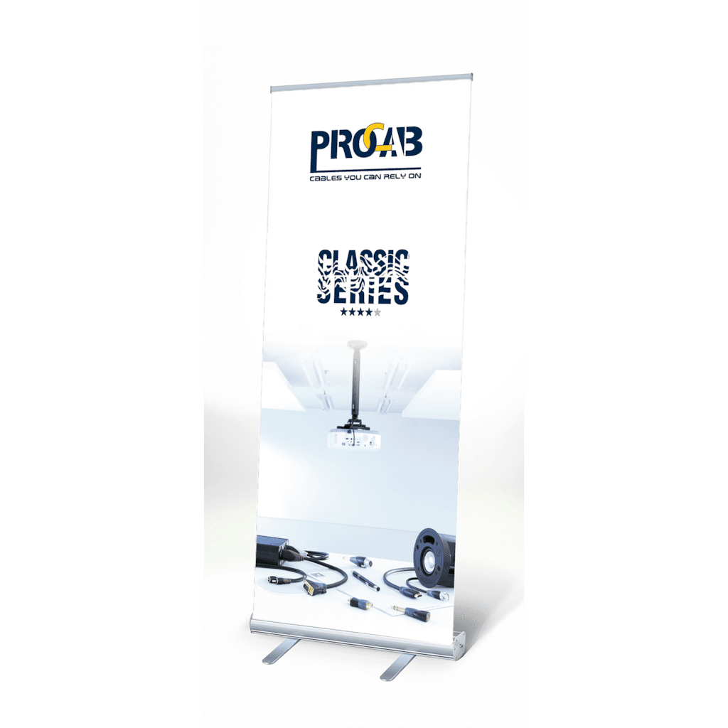 PROMO6022 - PROCAB Classic roll-up display 200 x 85 cm- v 1.0