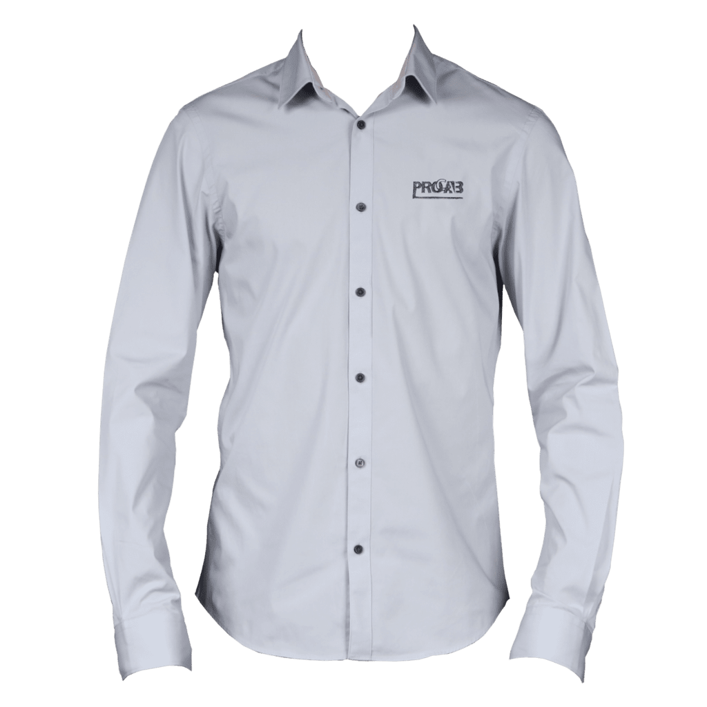 PROMO612X - PROCAB promotion shirt grey with embroidered logo