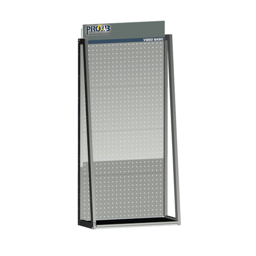 PROMORD4001 - Standard display basic rack for attaching hooks