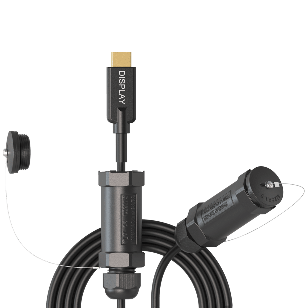 PRV220A - HDMI A male - HDMI A male - Armored active optical - HighFlex™