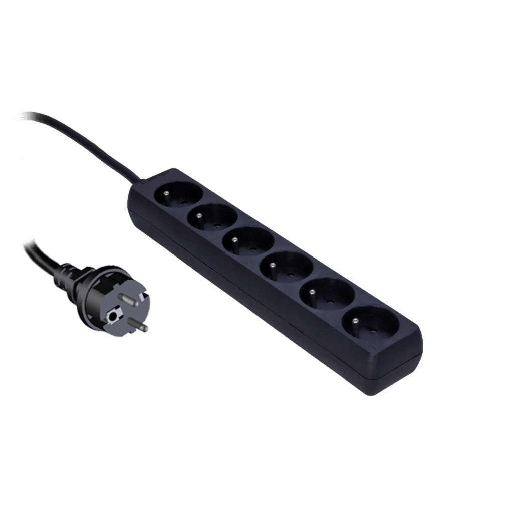 PSC106 - Powerstrip with child protection, 6-way