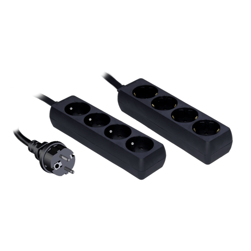 PSC204 - 3G2.5 powerstrip with child protection, 4-way