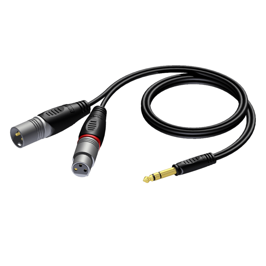 REF709 - 6.3 mm Jack male stereo - XLR male & XLR female