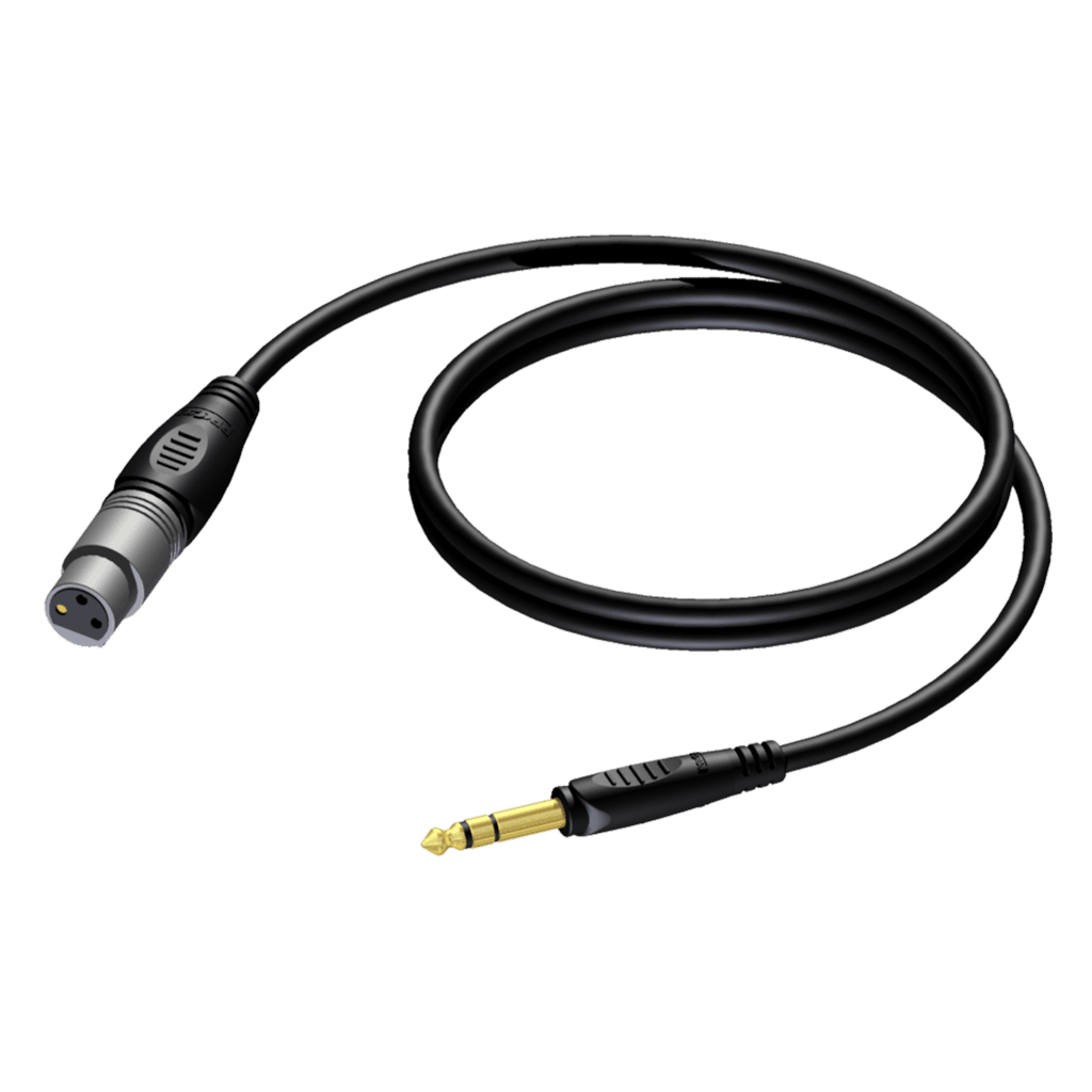 REF723 - XLR female - 6.3 mm Jack male stereo