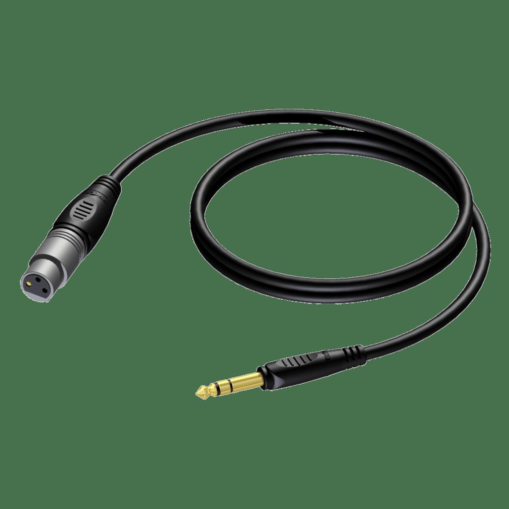 REF723 - XLR female - 6.3 mm Jack male stereo