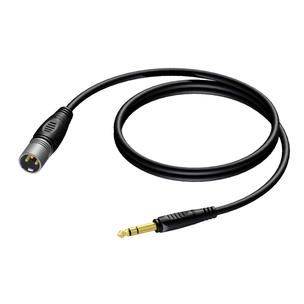 REF724 - XLR male - 6.3 mm Jack male stereo