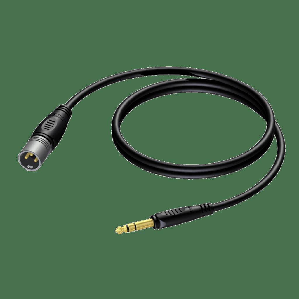 REF724 - XLR male - 6.3 mm Jack male stereo