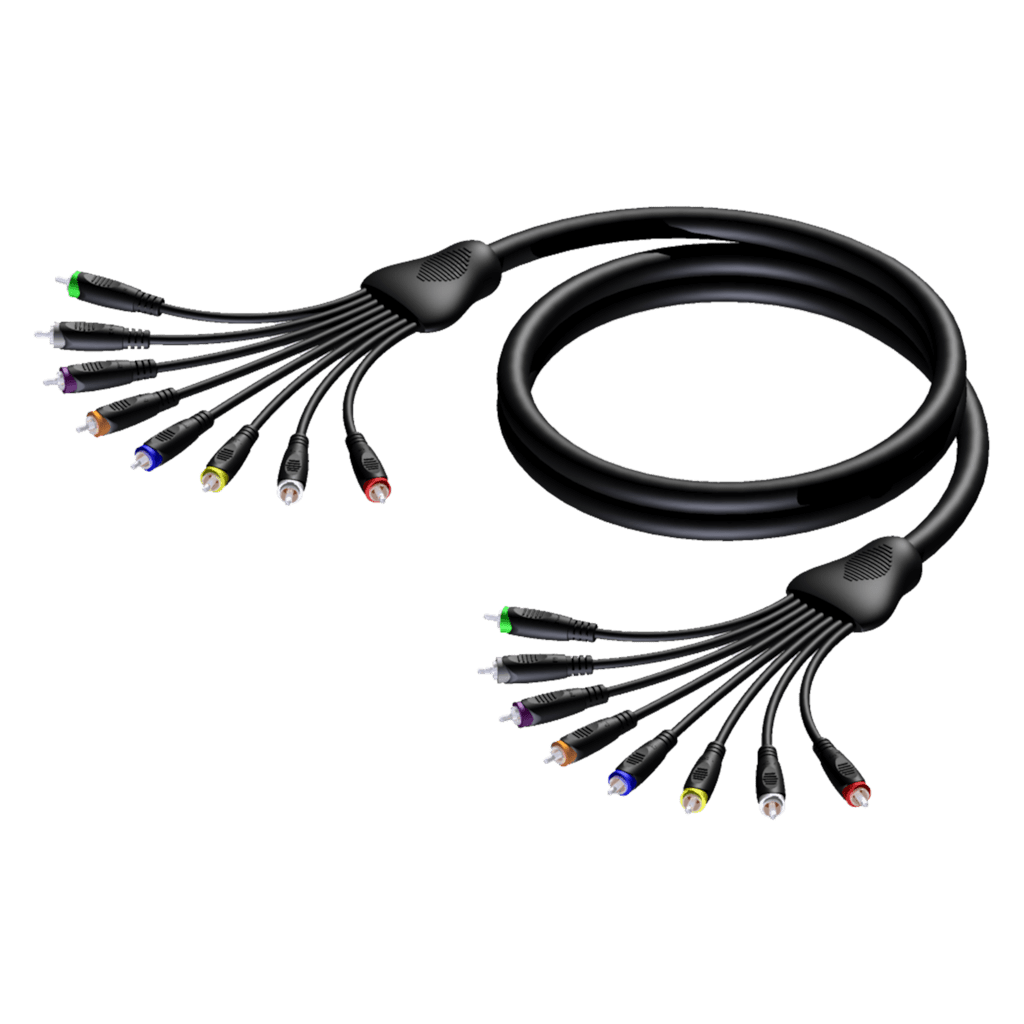 REF8033 - Multi core cable - 8 x RCA/Cinch male - 8 x RCA/Cinch male