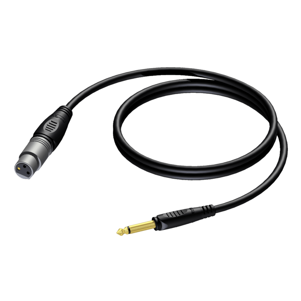 REF900 - 6.3 mm Jack male mono - XLR female