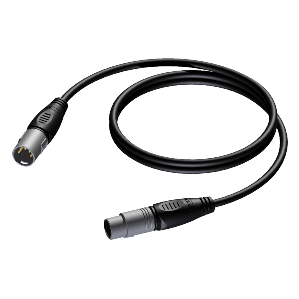 REF955 - DMX 2-pair cable -XLR male - XLR female