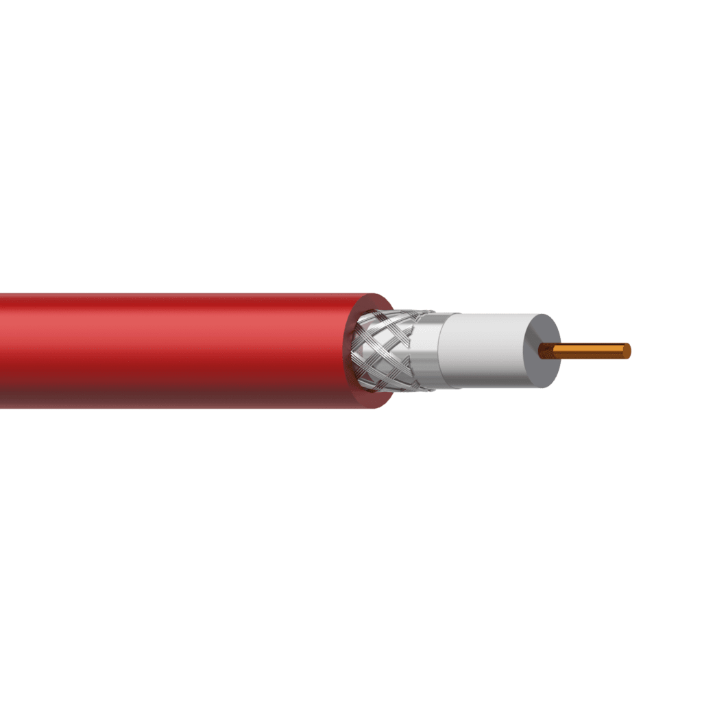 RG06HF - Coax video cable - solid 0.78 mm² - 18 AWG - LSHF