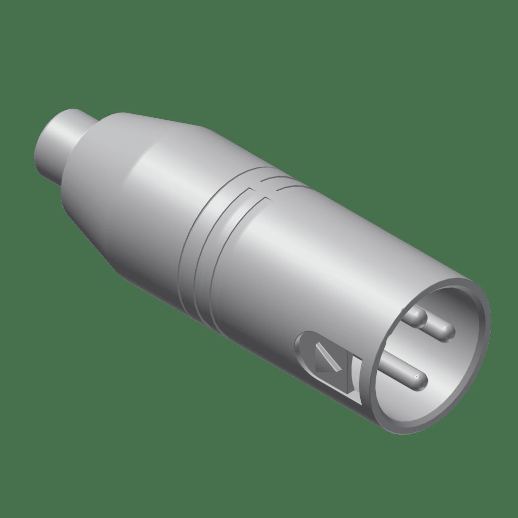 VC102 - Adapter - RCA/Cinch female - XLR male
