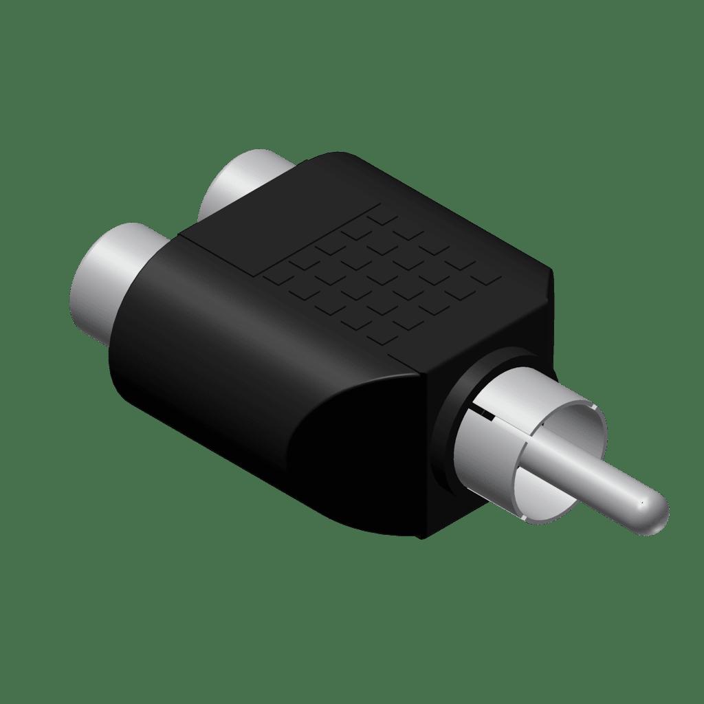VC106 - Adapter - 2 x RCA/Cinch female - RCA/Cinch male