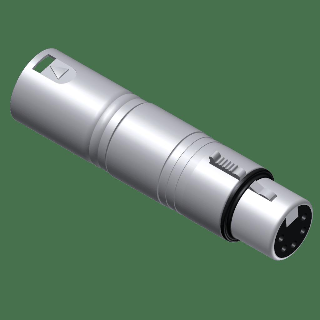 VC150 - DMX adapter - 3-pin XLR male - 5-pin XLR female
