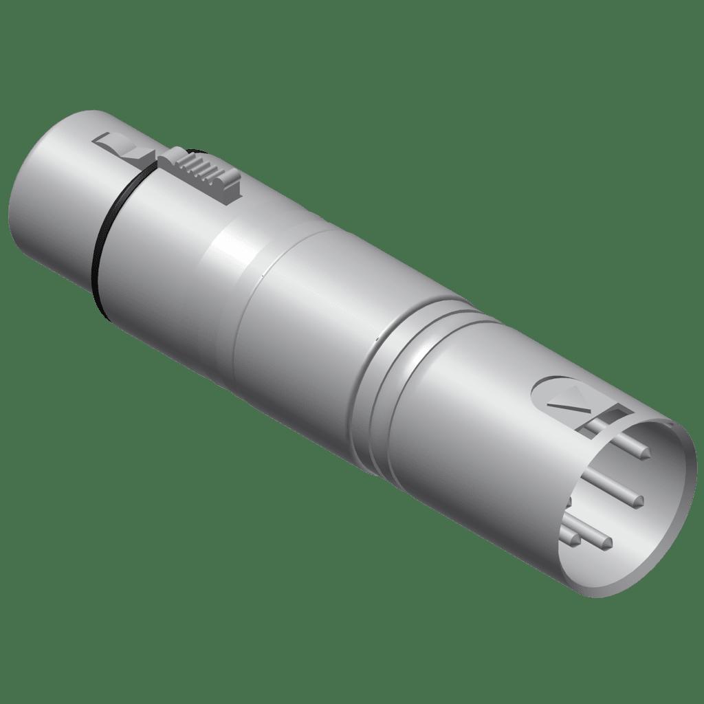 VC155 - DMX adapter - 5-pin XLR male - 3-pin XLR female