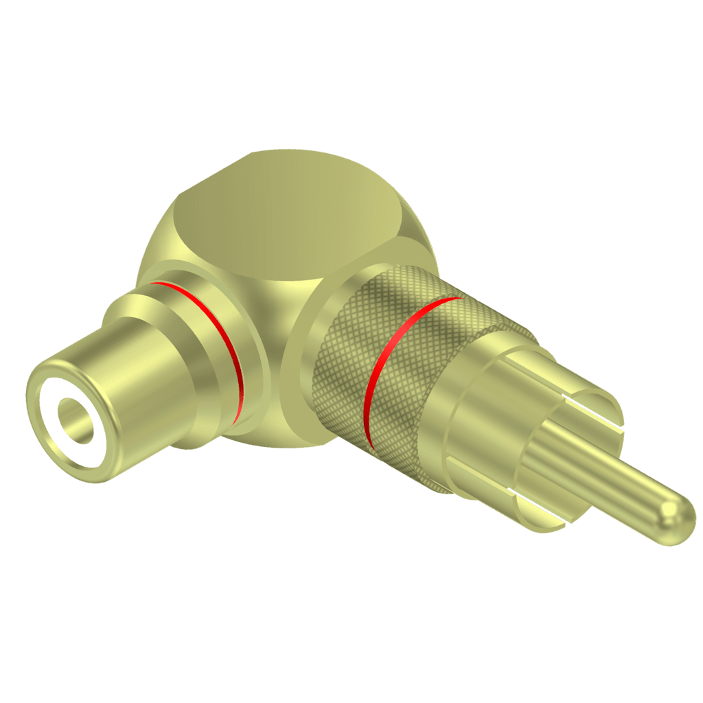 VC215 - Adapter - RCA/Cinch male - RCA/Cinch female - 90° angled - pair