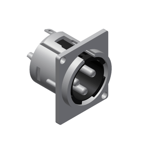 VC3MDL - Panel connector - 3-pin xlr male