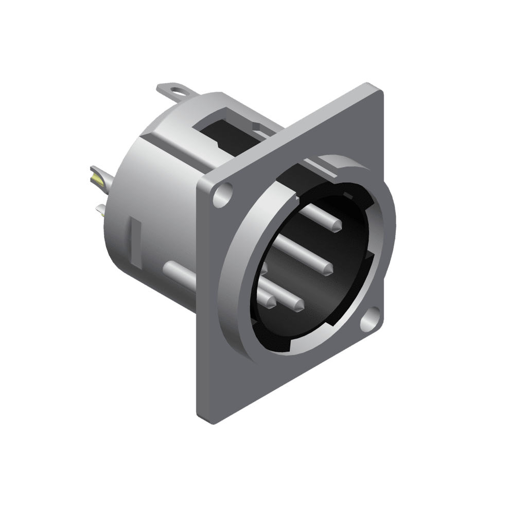 5-pins Xlr Connector Malepanel / D-version