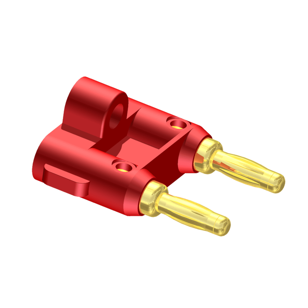 VCB20 - Cable connector - Banana connector - red