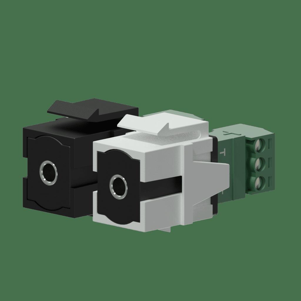 Keystone adapter - 3.5 mm Jack female - 3-p terminal block