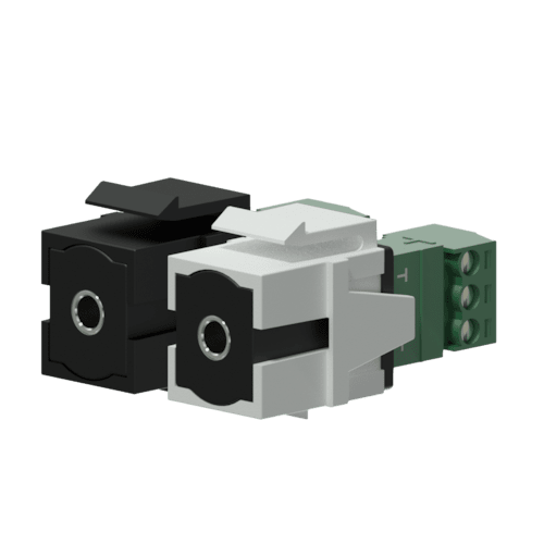 VCK315 - Keystone adapter - 3.5 mm Jack female - 3-p terminal block