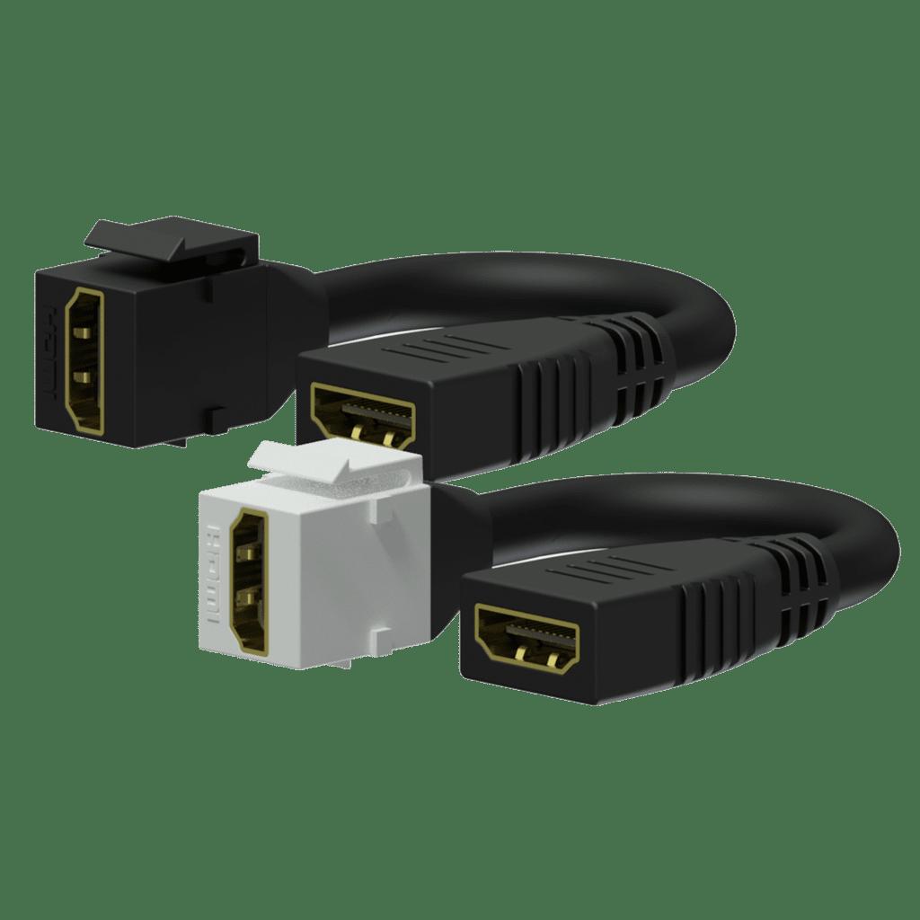 Keystone adapter - HDMI A female - HDMI A female - pigtail