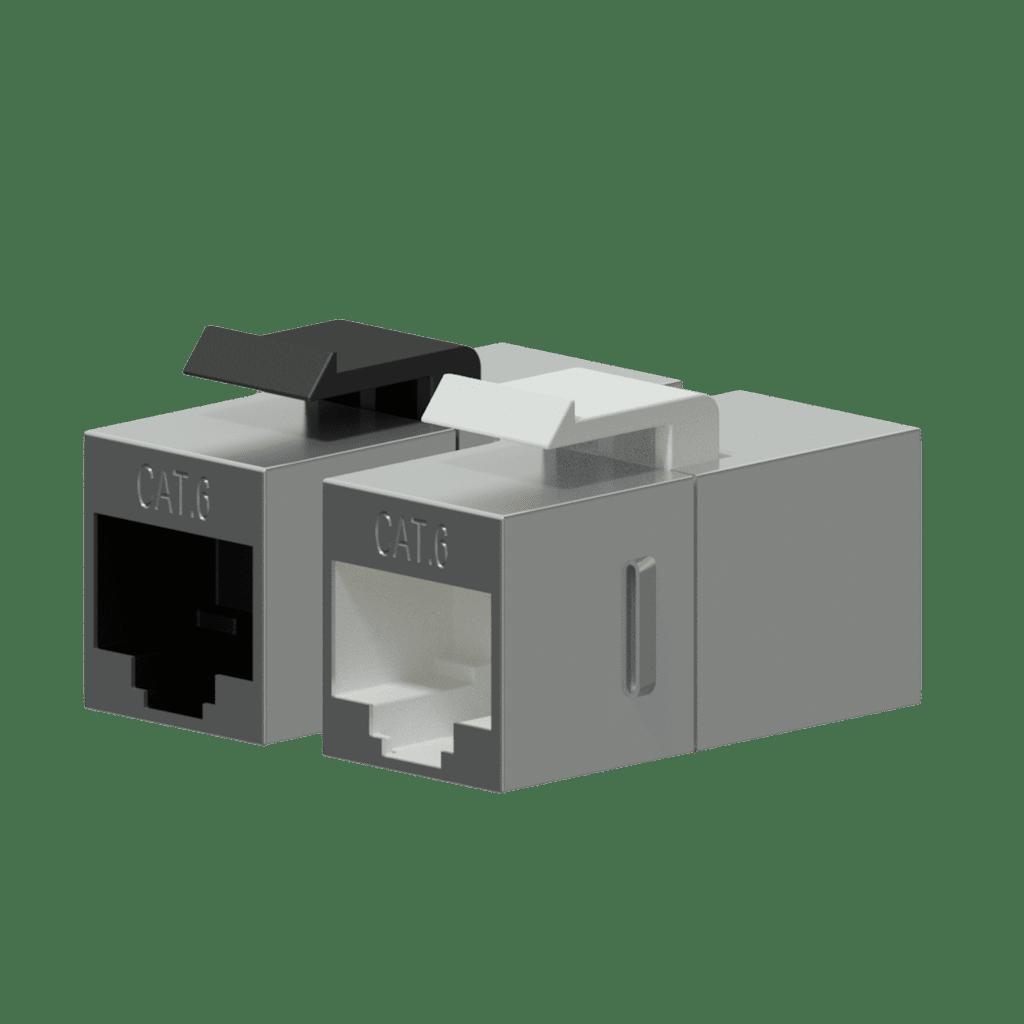 Keystone adapter - CAT6 RJ45 - RJ45 - metal shielded